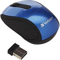 Verbatim Wireless Mini Travel Mouse, Blue