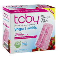 TCBY Low Fat Strawberry Fruit & Frozen Yogurt Swirl Bars - 6 CT