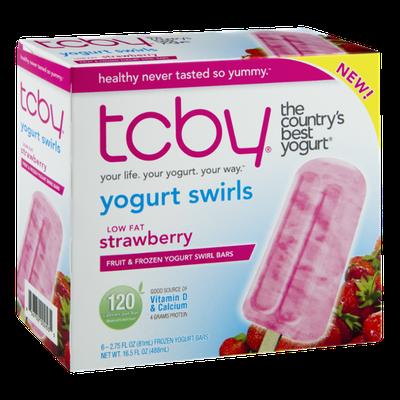 TCBY Low Fat Strawberry Fruit & Frozen Yogurt Swirl Bars - 6 CT