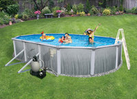 Swim Time 52-in. Martinique Oval 7-in. Top Rail Pool Package