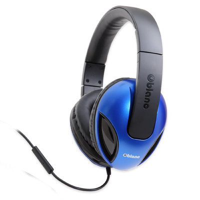 Syba SYBA Multimedia Oblanc Cobra Blue Stereo Headphone W/In-line Microphone