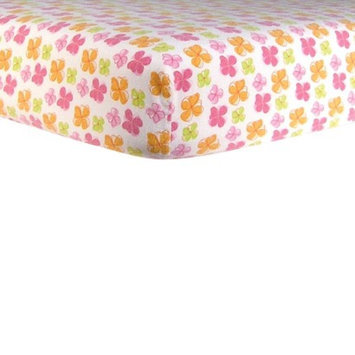 Trend Lab Floral Flannel Fitted Crib Sheet