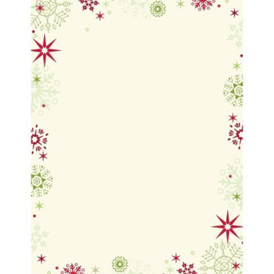 Hortense B. Hewitt Red & Green Flakes Letterhead - 80 Count