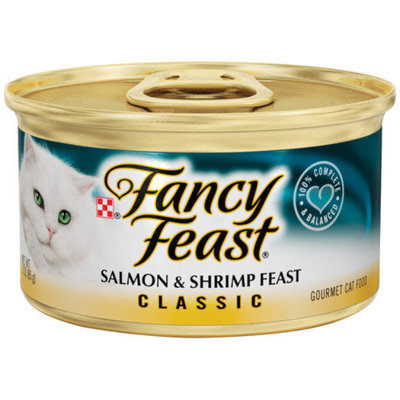 Fancy Feast Classic Gourmet Salmon and Shrimp Wet Cat Food (3-oz can, case of 24)