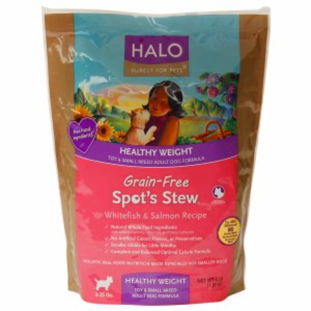 Halo, Purely For Pets Healthy Weight Adult Dog Food, Spot's Stew, Whitefish & Salmon Recipe, 4 lb