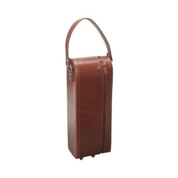 Amerileather - Leather Single Wine Case Holder - Brown