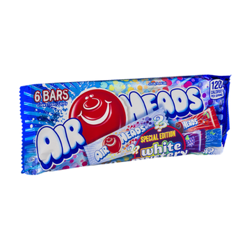 Air Heads Special Edition Chewy Fruit Candy Bars White Mystery - 6 CT
