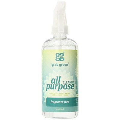GrabGreen Grab Green All Purpose Surface Cleaner, Fragrance Free, 16 Ounce (Pack of 2)