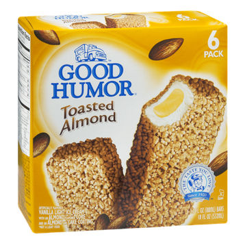 Good Humor Toasted Almond Ice Cream Bars - 6 CT