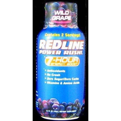 Redline 7 Hour 36 Pack - Redline Power Rush 7 Hour - Wild Grape - 2.5oz.