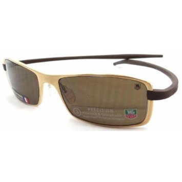 Tag Heuer Reflex Sunglasses Th 3783 203 53x17 Gold Frame / Brown Polarized Lens