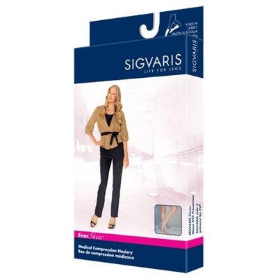 Sigvaris EverSheer Compression Knee High 15-20mmHg Women's Closed Toe Short Length, Large Short, Natural