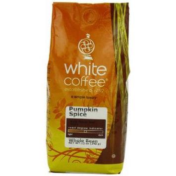 White Coffee Whole Bean Coffee, Pumpkin Spice, 12 Ounce