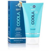 Drugstore Coola Sport, Organic Moisturizing Suncare, SPF 45, Unscented, 5 oz