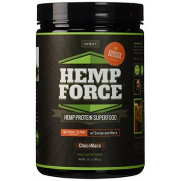 Hemp FORCE Twin Pack ChocoMaca High Protein Superfood Vegan Supplement w/ Cocoa & Maca by Onnit Labs , Joe Rogan Certified Delicious, (14.1oz - pack of 2)