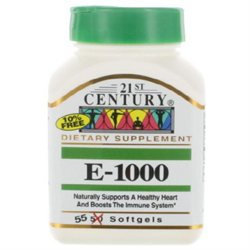 21st Century Healthcare Vitamin E 1000 IU 55 Softgels, 21st Century Health Care