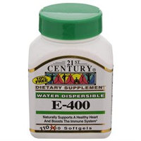 21st Century Healthcare Vitamin E 400 Water Soluble 110 Softgels, 21st Century Health Care