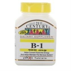 21st Century Healthcare Vitamin B-1 100 mg 110 Tablets, 21st Century Health Care