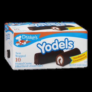 Drake's Yodels Frosted Creme Filled Devil's Food Cakes - 10 CT
