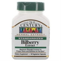 21st Century Healthcare Bilberry Extract 60 Vegetarian Capsules, 21st Century Health Care