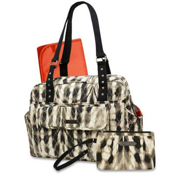 Wendy Bellisimo Wendy Bellissimo Wanderlust Quilted Satchel Diaper Bag in Cream