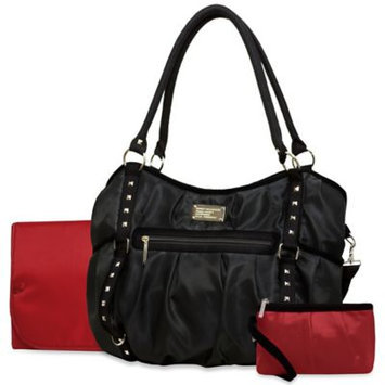 Wendy Bellisimo Wendy Bellissimo Tamale Studded Tote Diaper Bag in Red/Black