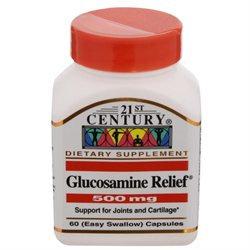 21st Century Healthcare Glucosamine Relief 500 mg 60 Capsules, 21st Century Health Care