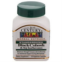 21st Century Healthcare Black Cohosh & Soy Isoflavones 60 Vegetarian Capsules, 21st Century Health Care
