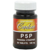 Carlson Laboratories Carlson Labs P5P, Pyridoxal 5 Phosphate, 50 Tablets [Health and Beauty]