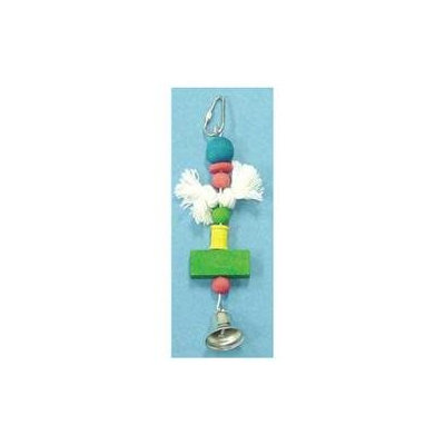 North American Pet BBO22156 Beads- Knot- Spool- Block And Bell Toy For Birds