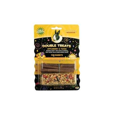 Sun Seed Company SSS85660 Double Treats Appleberry and Twigs for Rabbits- 3 oz.
