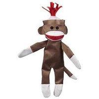 JW Pet Crackle Heads Canvas Monkey Dog Toy Large