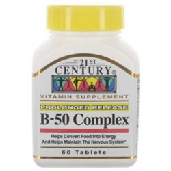 21st Century Healthcare Vitamin B-50 Balanced Complex 60 Tablets, 21st Century Health Care