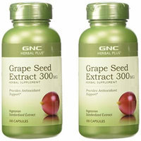 GNC Grape Seed Extract 100mg / 300mg (Single or Multi-packs) (Grape Seed 300 mg 2 Pack (200 capsules))
