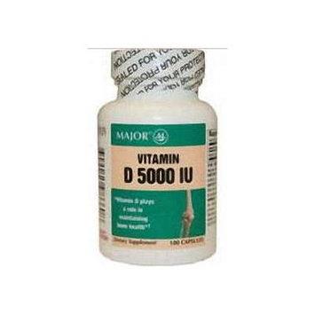 Vitamin D, Capsule, 5000u, 100ct