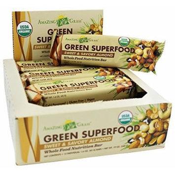 Amazing Grass - Green Superfood Whole Food Energy Bar Sweet & Savory Almond - 1.6 oz.