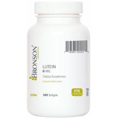 Bronson Labs: Lutein 6mg 100 Softgels