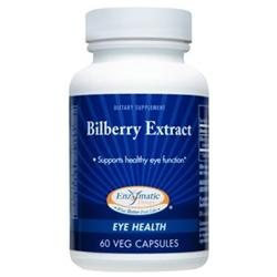 Enzymatic Therapy Bilberry Extract - 60 Vegetarian Capsules