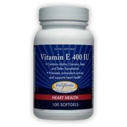 Enzymatic Therapy Vitamin E - 400 IU - 100 Softgels