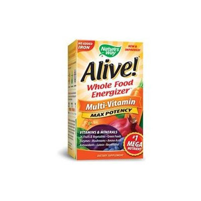 tures Way Nature's Way Alive! Multi-Vitamin No Iron Added - 30 Tablets