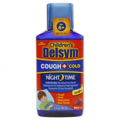Delsym Children's Liquid Cough & Cold Night Time, Berry, 6 fl oz
