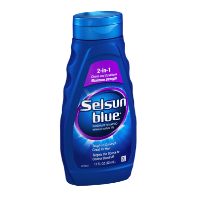 Selsun Blue Dandruff Shampoo 2-in-1 Cleans and Conditions Maximum Strength