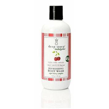 Deep Steep Refreshing Body Wash, Sweet Cherry and Almond, 10 Ounce