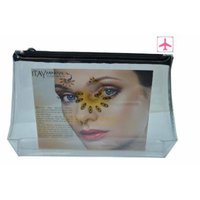 Itay Mineral Cosmetics Clear Airplane Travel Cosmetic Bag (With Black Zipper)
