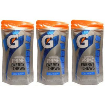Gatorade Prime Cool Blue Energy Chews (3 Pack - 90 Chews)