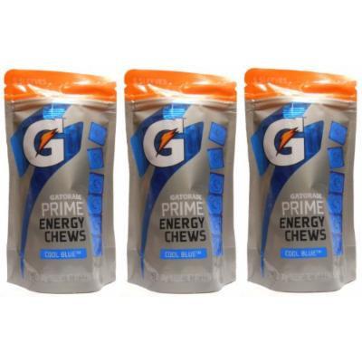 Gatorade Prime Cool Blue Energy Chews (3 Pack - 90 Chews)