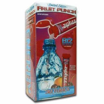 Zipfizz Healthy Energy Drink Mix - Fruit Punch Flavor - Dietary Supplement, 11g 30 Tubes