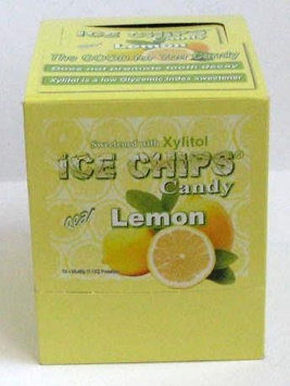 Ice Chips Lemon-Box Ice Chips Candy 12-1oz (28.35 g) Box