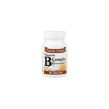 Vitamin B Complex with Vitamin B12 - 28 tabs,(Family Choice)