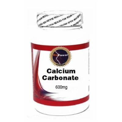 Calcium Carbonate 600mg 100 Capsules # BioPower Nutrition
